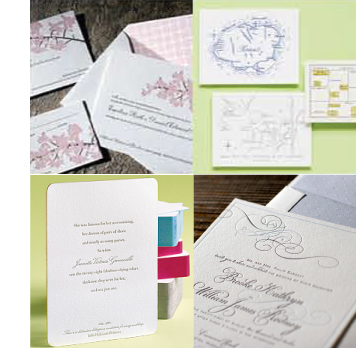 Selection of wedding invitation design cards